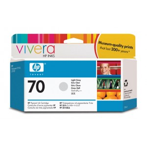 Cartouche d'encre HP Designjet 70 130 ml gris clair