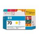 Cartouche d'encre HP Designjet 70 - Jaune - 130 ml