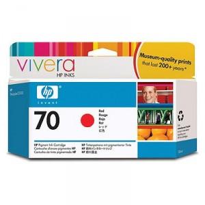 Cartouche d'encre HP Designjet 70 130 ml rouge