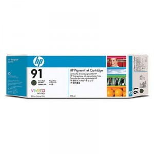 Cartouche d'encre HP Designjet 91 775 ml noir mat