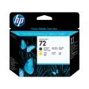 Tete d'impression HP Designjet 72 noir mat et jaune