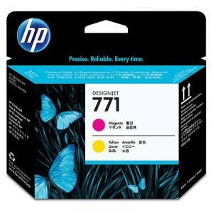 Tete d'impression HP Designjet 771 magenta et jaune