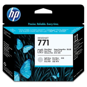 Tete d'impression HP Designjet 771 noir photo et gris clair