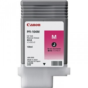 Cartouche d'encre Canon PFI-104M 130ml Magenta