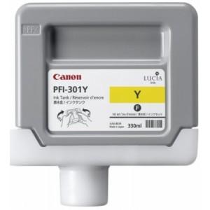 Cartouche d'encre Canon PFI-301Y 330ml Jaune
