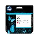 Tete d'impression HP Designjet 70 noir mat et rouge